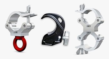 Aluminium Brackets, Couplers, Clamps