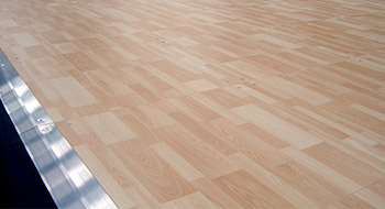 Parquet floorings for portable use