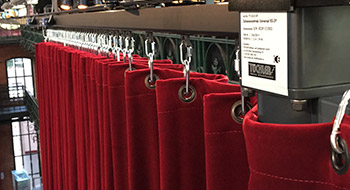 Curtain Tracks for Large Venues