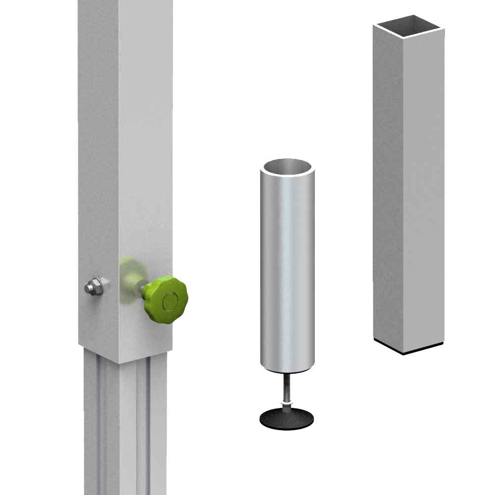 T-REX nástrčné a teleskopické nohy