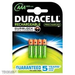 DURACELL AKKU STAYS CHARGED AAA 800mAh HR03 1,2V _ 4es csomag