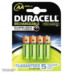 DURACELL AKKU STAY CHARGED AA 2400mAh HR6 1,2V _ 4er Packung