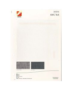 SAMPLE CARD SPRINKLER NET 520 4 X 4