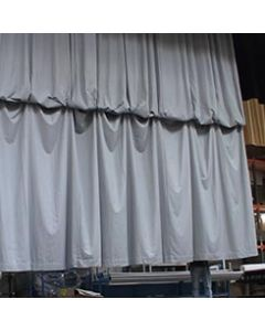 Drapa and gathering curtain systems