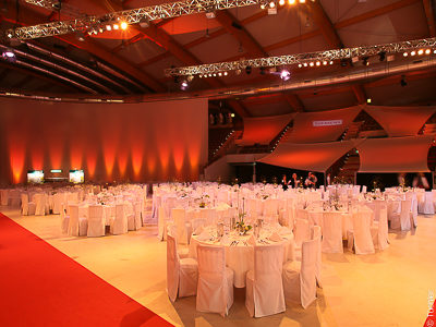 Gala Night of Sports - Sails, Horizons, Rank Covers and Video - Screen made of projection films