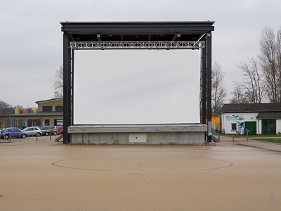 Open-air projection screen for the cultural center Washhouse, Potsdam