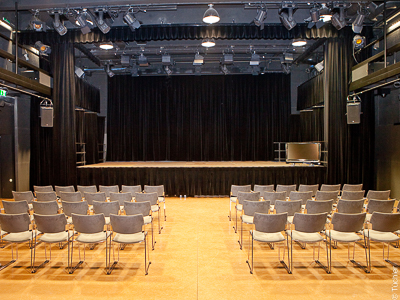 Stage, roller screens, theatre track, stage curtains - Zehnerhaus Bad Radkersburg