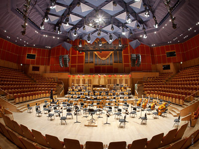 The Polish Baltic Philharmonic - Gdansk: chain hoist system and load bars