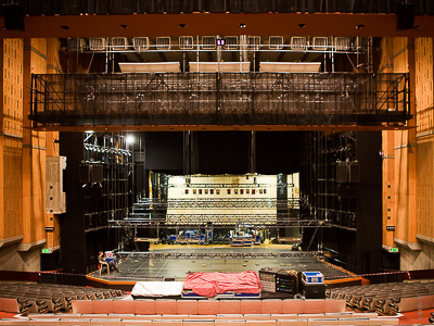 Stage winches, stage controller, load bars, Queen Elizabeth Hall London