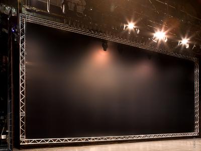 Black projection screen for rear projection, Friedrichstadt Palast Berlin