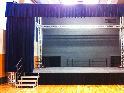 Stage in Elementary school Roztoky u Prahy