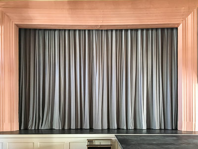 Main curtain for the stage of Stadtsaal Penzberg.