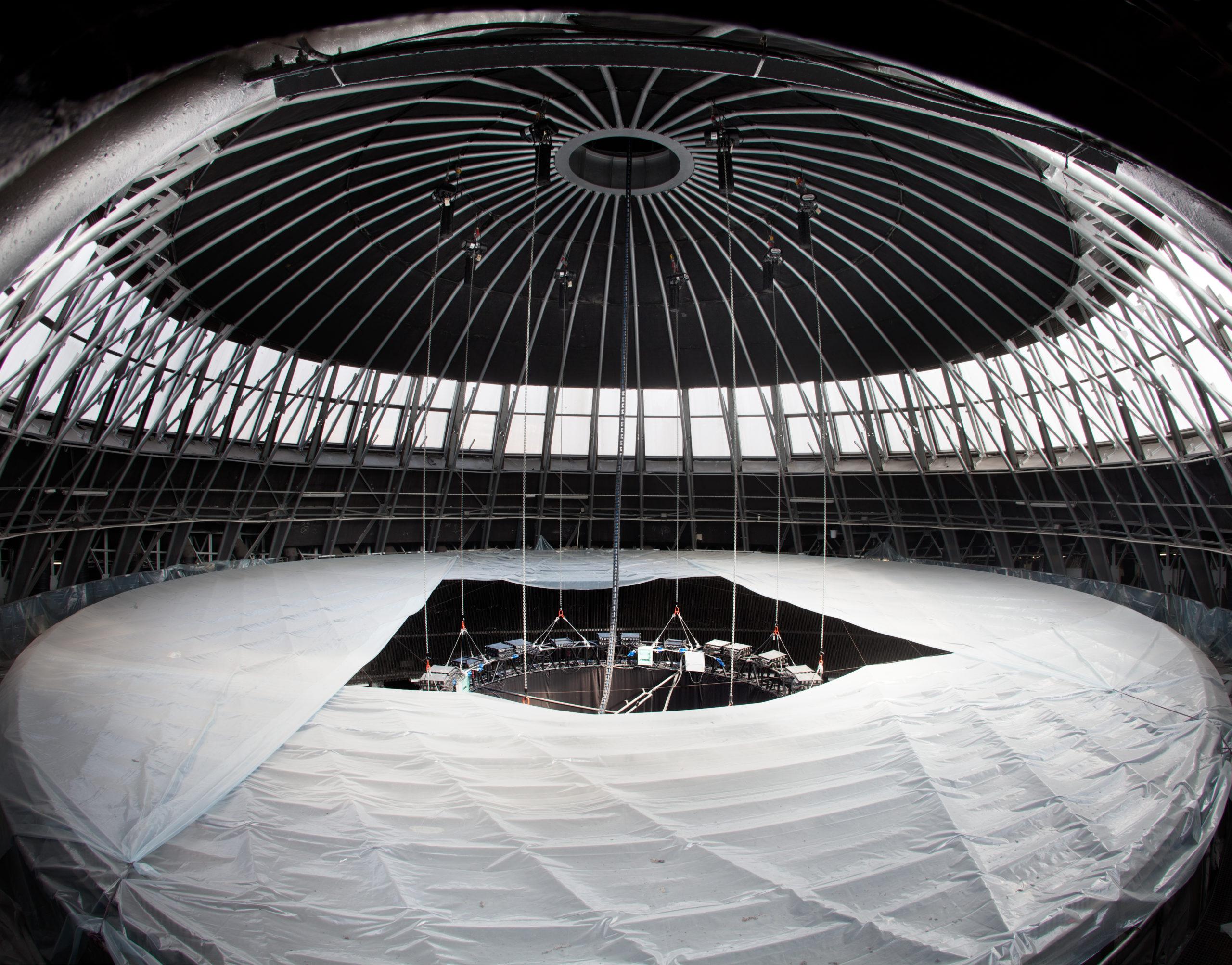 Sporthalle Katowice: Kettenzuganlage