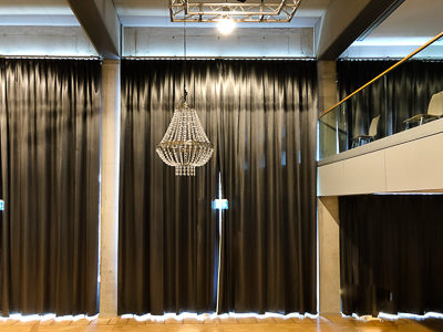Light impermeable blackout curtains for Kulturhaus Milbertshofen near Munich