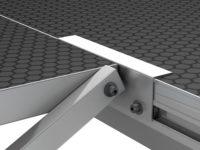 Bühnensystem T-REX Detail Befestigung Automatiktreppe an Bühnenpodest