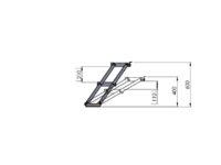 Bühnensystem T-REX Automatiktreppe 2-stufig für Bühnenpodest Zeichnung