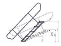 Bühnensystem T-REX Automatiktreppe 4-stufig für Bühnenpodest Zeichnung V2