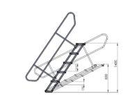 Bühnensystem T-REX Automatiktreppe 5-stufig für Bühnenpodest Zeichnung
