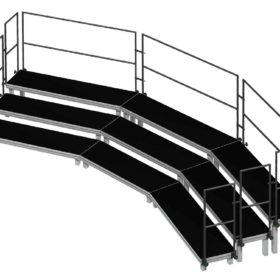 Bühnensystem T-REX Orchestertreppe aus Bühnenpodesten
