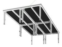 Bühnensystem T-REX Bühnenpodest mit Teleskopbeinen Gruppe Unteransicht V3