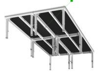 Bühnensystem T-REX Bühnenpodest mit Teleskopbeinen Gruppe Unteransicht V4