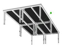 Bühnensystem T-REX Bühnenpodest mit Teleskopbeinen Gruppe Unteransicht V2