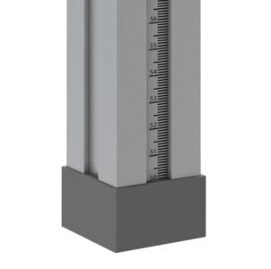 Bühnensystem T-REX Steckbein Steckfuß Steckfuss teleskopbierbar ausziehbar Telebein quadratisch Detail V3