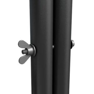 Bühnensystem T-REX Anstelltreppe Bühnentreppe Einzelelement Detail Verbindung Handlauf zu Bühnenpodest V2