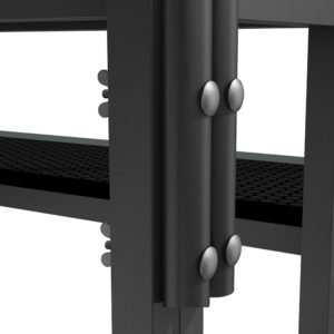 Bühnensystem T-REX Anstelltreppe Bühnentreppe Einzelelement Detail Verbindung Handlauf