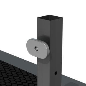 Bühnensystem T-REX Anstelltreppe Bühnentreppe Einzelelement Detail Verbindung V2