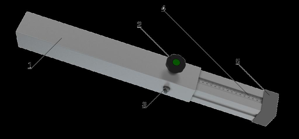 Bühnensystem T-REX Steckbein Steckfuß Steckfuss teleskopbierbar ausziehbar Telebein quadratisch Detail