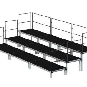 Bühnensystem T-REX Chortreppe aus Bühnenpodesten
