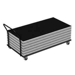 Bühnensystem T-REX Lagerwagen, Transportwagen Standard mit Bühnenpodest
