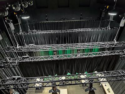 Jevištní technika pro Stadtsaal Bludenz