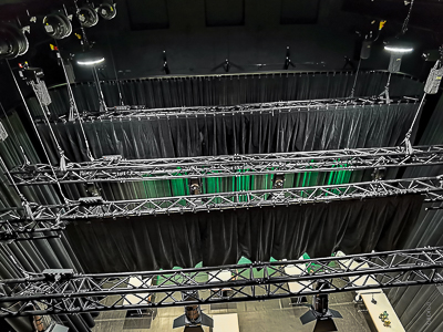 Stage technology for the Stadtsaal Bludenz