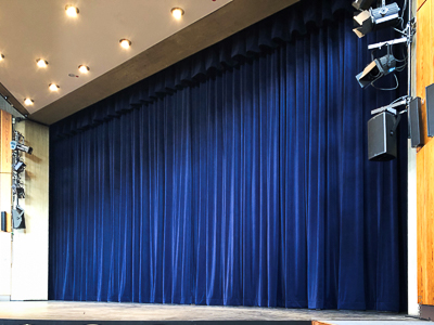 Main curtain for City Theatre Ratingen, Germany