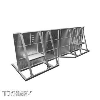 Bühnensystem T-REX Crowd barriers BR-C Vario Ecke
